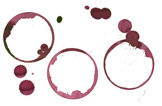 set of tree wine stains