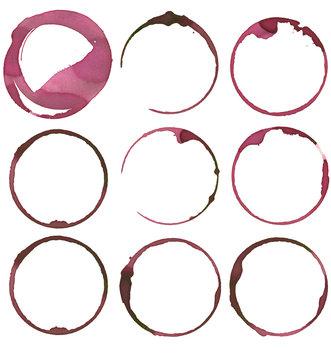 set of nine wine stains