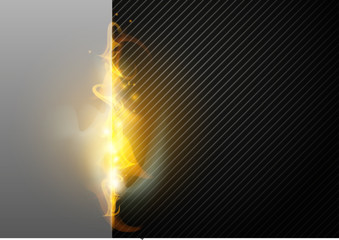 abstract background with fire