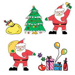 Santa claus christmas hand drawn