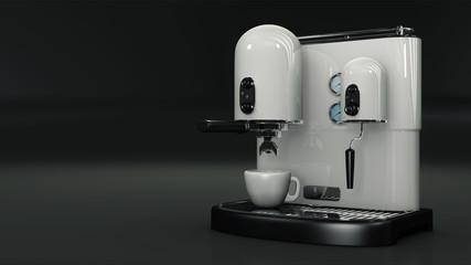 Macchina per caffè bianco