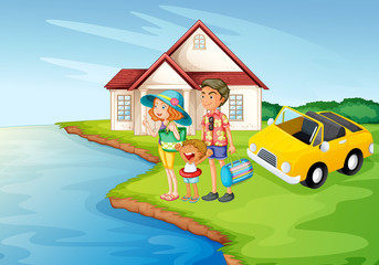 a girl, a boy and a car