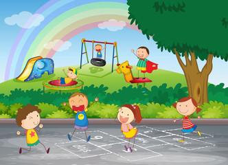 Poster Regenboog kids