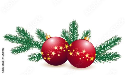 weihnachtskugeln mit tannenzweigen stockfotos und lizenzfreie vektoren auf bild. Black Bedroom Furniture Sets. Home Design Ideas