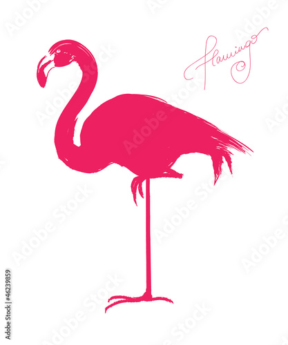 Pink flamingo vector illustration stock image and royalty free pink flamingo vector illustration pronofoot35fo Images