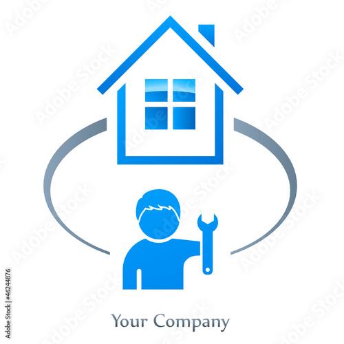 immobilien hausmeister logo stockfotos und lizenzfreie vektoren auf bild 46244876. Black Bedroom Furniture Sets. Home Design Ideas