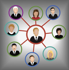 network of business leaders