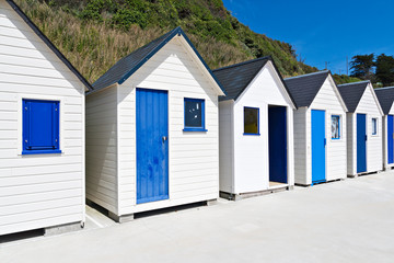 Famous Beach Huts in Trouville, Normandy, France