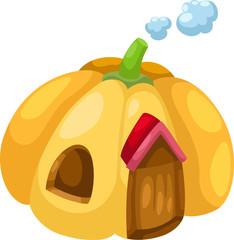 illustration pumpkin house vector