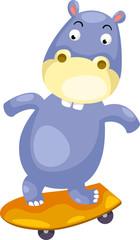 illustration Hippo vector file