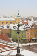 Wall Mural - winter in  Warsaw, Poland