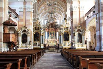 Intérieur de l'église d'Ebersmunster