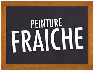 Photos illustrations et vid os de peinture fraiche - Attention peinture fraiche ...