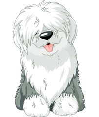 Canvas Prints Fairytale World Old English Sheepdog