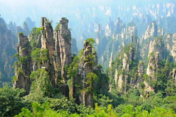 Photo sur cadre textile Chine Zhangjiajie natural scenery in China