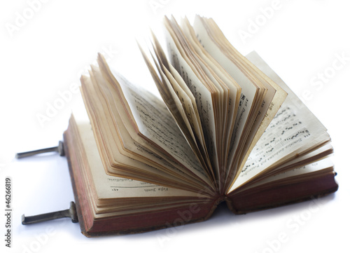 Livre Ancien Ouvert En Evantail Stock Photo And Royalty