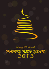 2013 happy new year. vector file