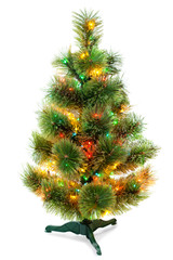 Christmas fir tree isolated on white background