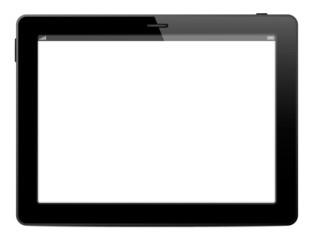 Tablet, mobile computer on white background