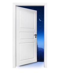 Tür in die Winternacht