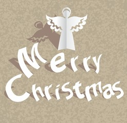 Paper cut Merry Christmas background