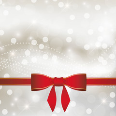 Abstract Christmas background with ribbon