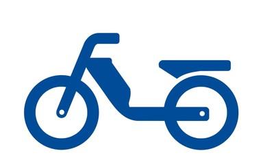 Fototapete - Moped