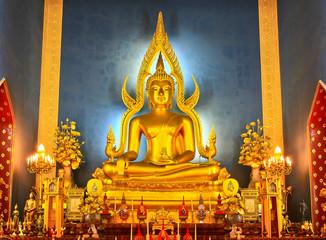 buddha in temple, Bangkok, Thailand
