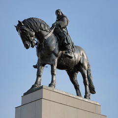 Equestrian statue of Jan Zizka in Prague, Czech Republic