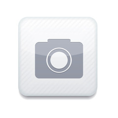 Vector white camera icon. Eps10. Easy to edit