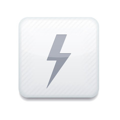 Vector white  lightning icon. Eps10. Easy to edit