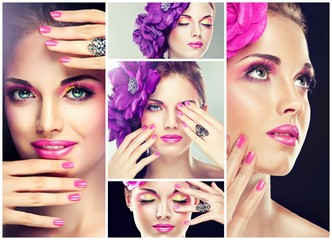 Wall Mural - pink make up