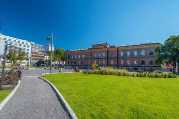 National Gallery of Norway and blue sky