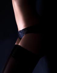 Erotic body on the floor
