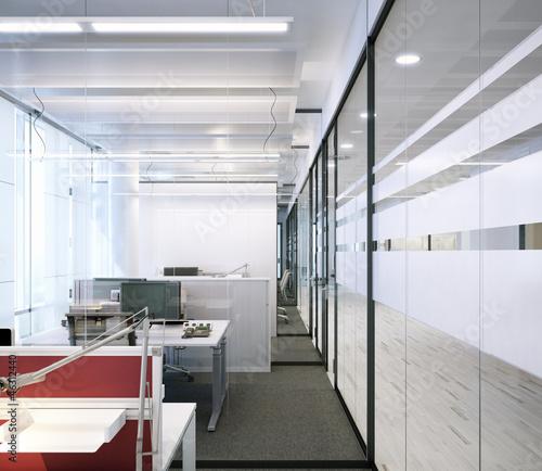 Modernes zellenb ro aus glas modern office with glas for Moderne bilder glas