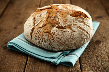 bread on napkin