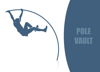 Pole vault background - vector illustration