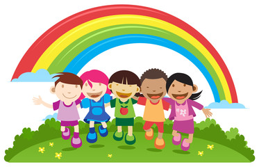 Door stickers Rainbow Sunny Day