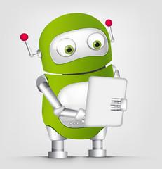 Foto auf Leinwand Roboter Cute Robot