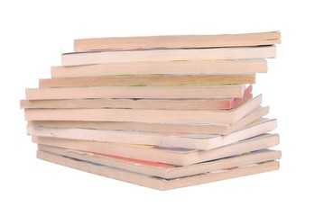 stack of comics  isolated on white background