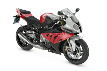 Aluminium Prints Motorcycle Red Sport Motorcycle