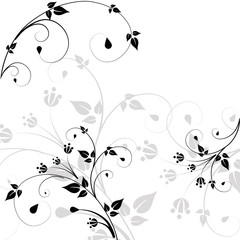 Beautiful pattern of scrolls and leaves