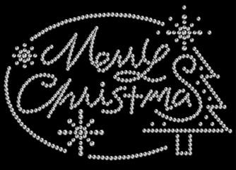 クリスマス(ラインストーン)黒
