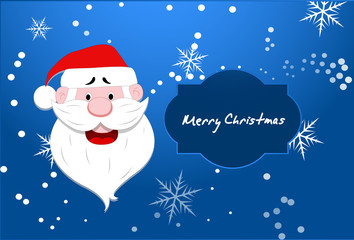 Santa Vector Christmas Background