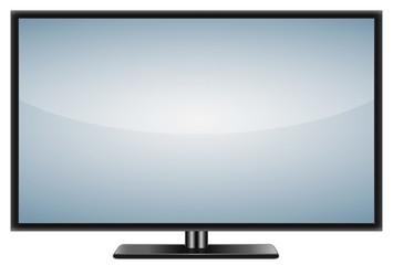 Flachbildfernseher, TV, realistic vector illustration