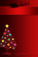 Carte de Vœux Noël Rouge