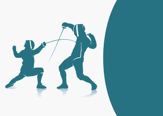 Fencing background - vector illustration