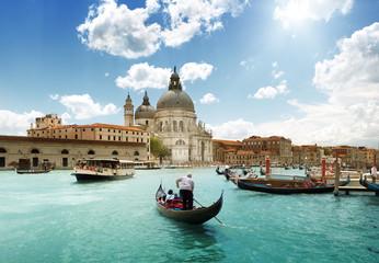Foto op Plexiglas Venetie Grand Canal and Basilica Santa Maria della Salute, Venice, Italy