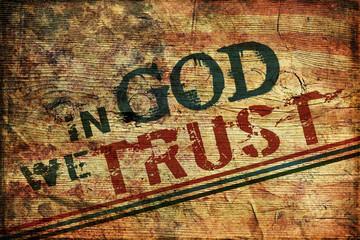In God we trust Grunge Background
