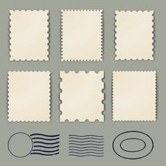 Blank stamp borders vintage
